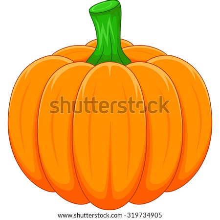 Cartoon pumpkin - stock vector