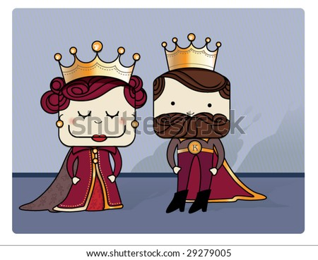 King And Queen Cartoon Drawing Cartoon Queen And King