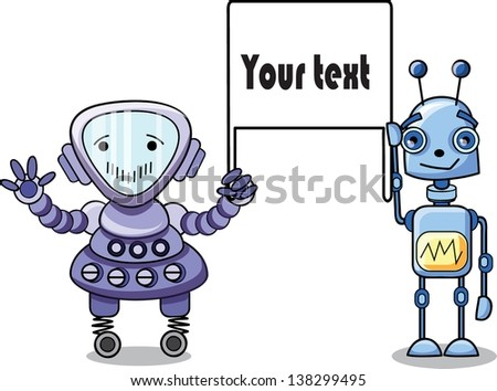 Cartoon robots - vector set