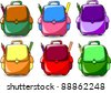 Cartoon School Bag - stock photo