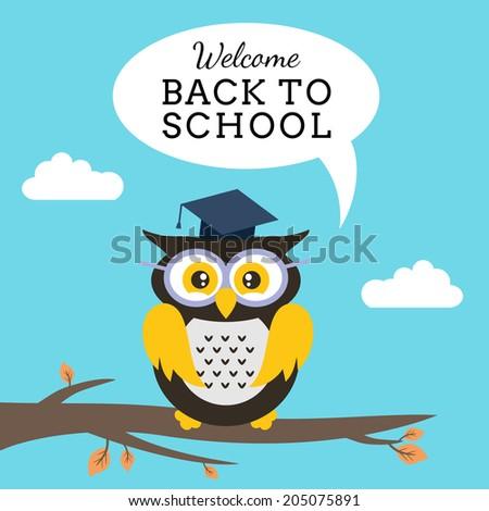 Back to school owl