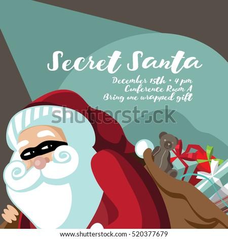 secret santa stock images royalty free images vectors shutterstock. Black Bedroom Furniture Sets. Home Design Ideas