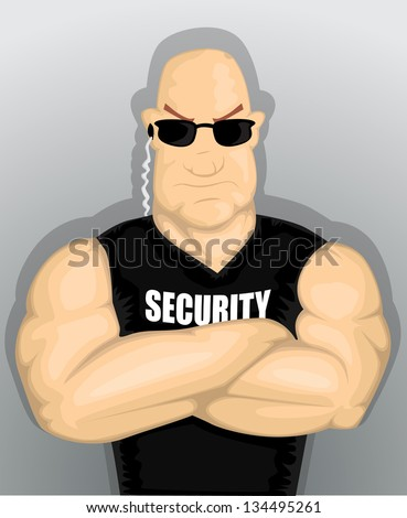 Cartoon Security man eps10 - stock vector