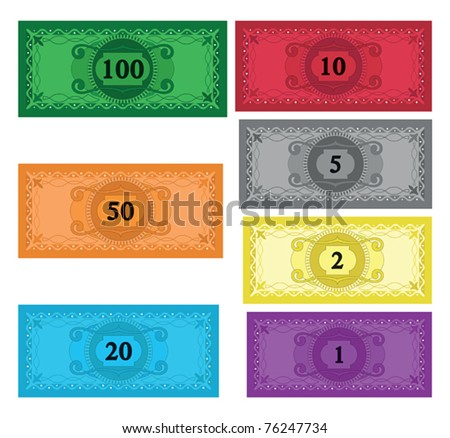 Cartoon set of money - stock vector