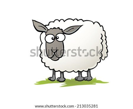 Cartoon Sheep - stock vector