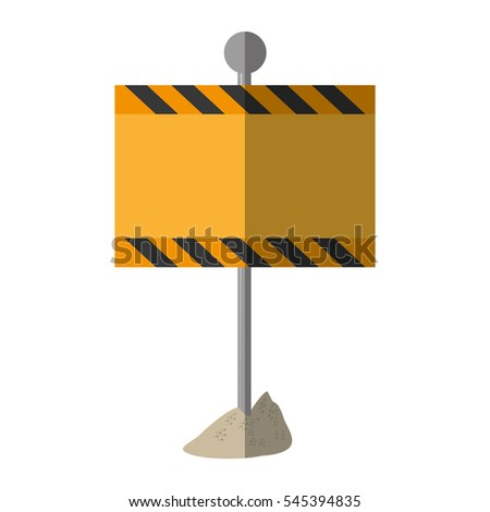cartoon sign road rectangle caution empty vector illustration eps 10