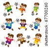 cartoon soccer  icon - stock photo