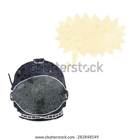cartoon space helmet - stock vector