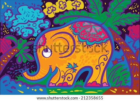 Cartoon space pattern design.  - stock vector