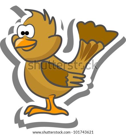 Cartoon sparrow - stock vector