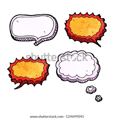 cartoon speech bubbles and thought bubbles - stock vector