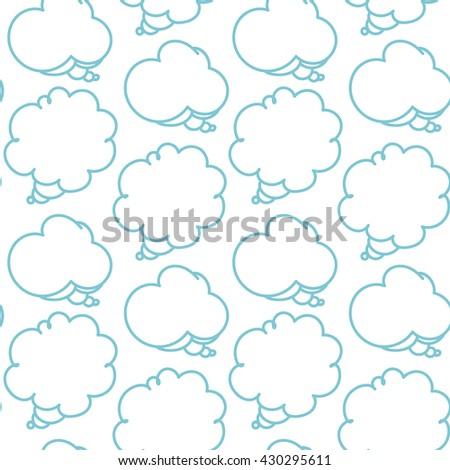 Cartoon speech bubbles seamless pattern, vector illustration - stock vector