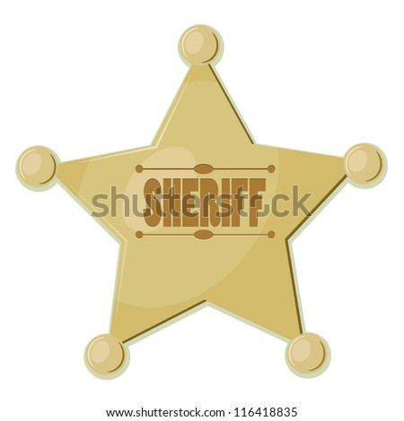 Cartoon star sheriff. eps10 - stock vector