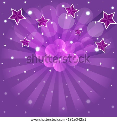Cartoon stars in the night sky.Vector EPS10. - stock vector