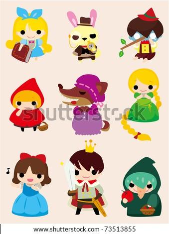 cartoon story people  icon - stock vector