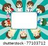 cartoon student card - stock vector