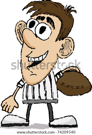 Cartoon style illustration of a referee.