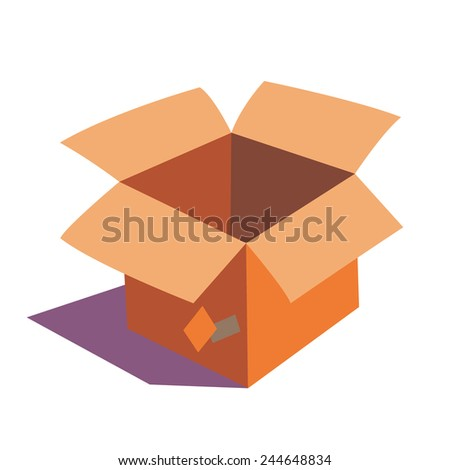 Cartoon Style Orange Color Open Empty Stock Vector 244648834 ...