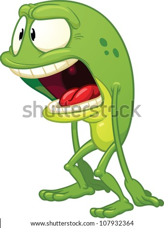 cartoon surprised frog vector illustration simple stock vector rh shutterstock com Vector The Crocodile Cute Frog Silhouette
