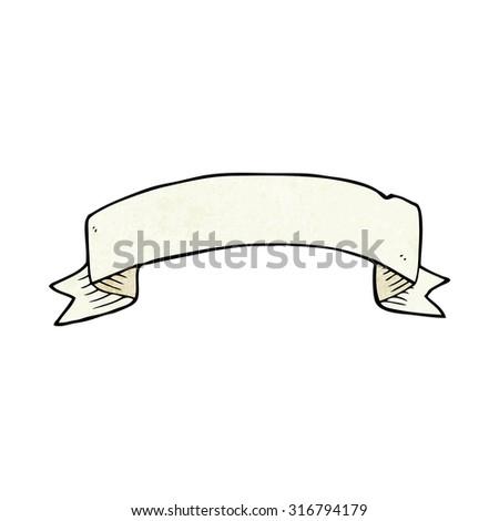 cartoon tattoo scroll banner - stock vector
