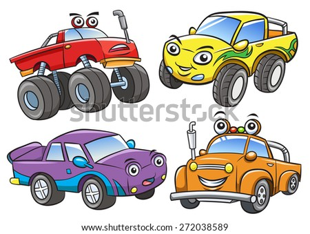 Cartoon the off road car.EPS10 File  simple Gradients,