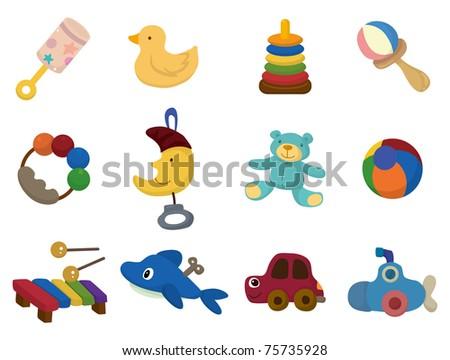 cartoon toy icon - stock vector
