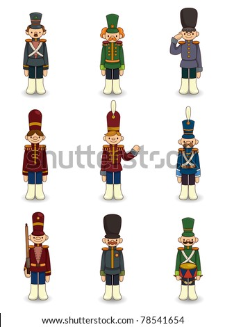 cartoon Toy soldiers icon - stock vector