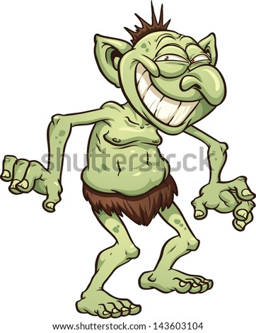 cartoon troll vector clip art illustration stock vector 143603104 rh shutterstock com troll clip art images troll clip art for free