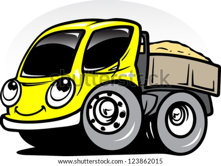 Cartoon truck - stock vector
