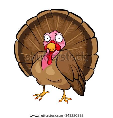 Cartoon turkey - stock vector