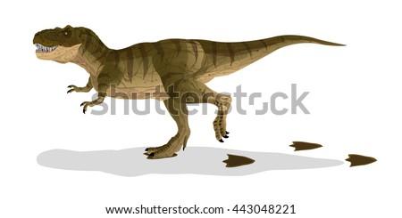 T Rex Footprint Template Dinosaur Templates Free Best