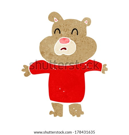 cartoon unhappy bear