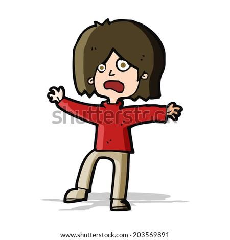 cartoon unhappy person - stock vector