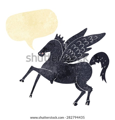 cartoon unicorn - stock vector