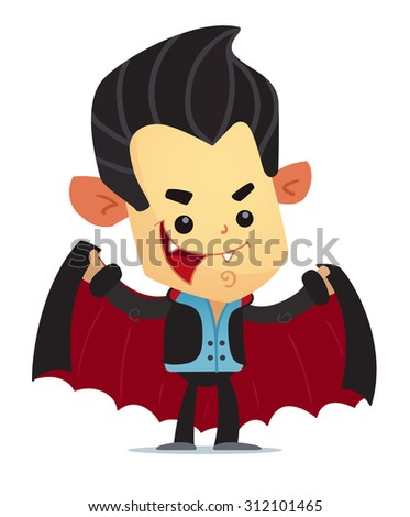 Cartoon Vampire - stock vector