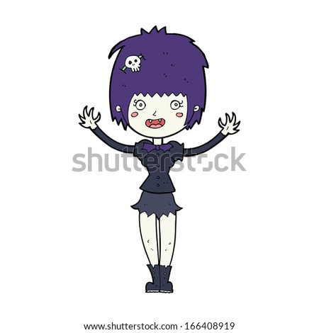 cartoon vampire girl