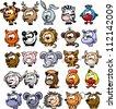 Cartoon vector animals - stock vector
