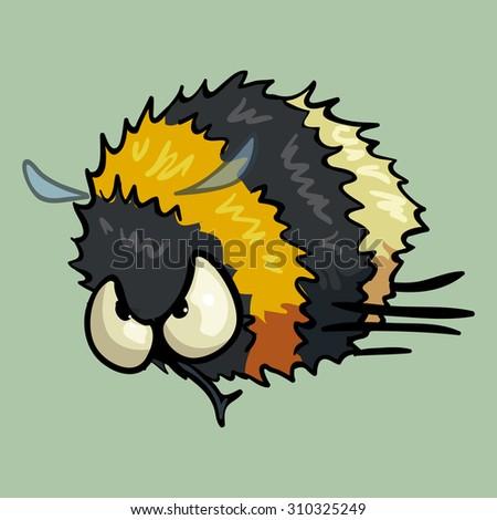cartoon vector bumblebee - stock vector