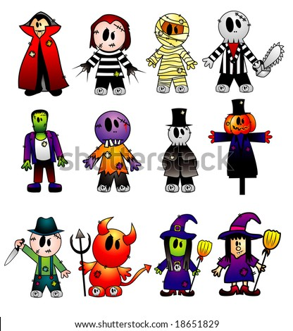 cartoon vector characters - stock vector
