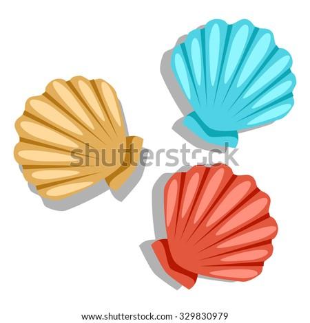 seashell stock images  royalty free images   vectors Shark Clip Art Penguins Eating Krill