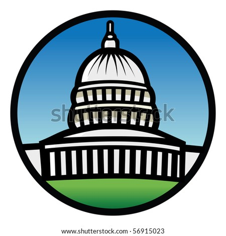 cartoon vector illustration Capitol building