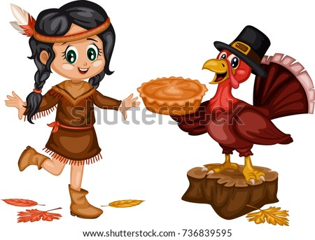 pilgrims and indians stock images royaltyfree images