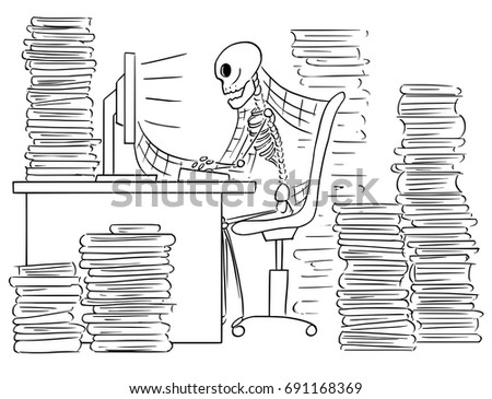 cartoon vector illustration forgotten human skeleton stock vector, Skeleton