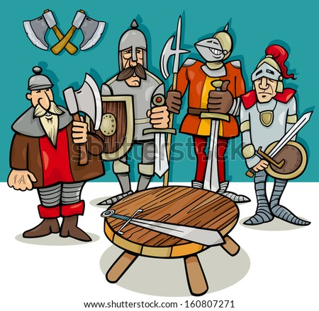 Knights Of The Round Table Stock Images RoyaltyFree Images