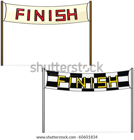 of finish lines - stock  Race Finish Line Banner