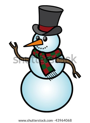 cartoon vector illustration snowman