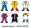 cartoon vector illustrations of career costumes - stock photo