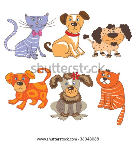 cartoon vector pets