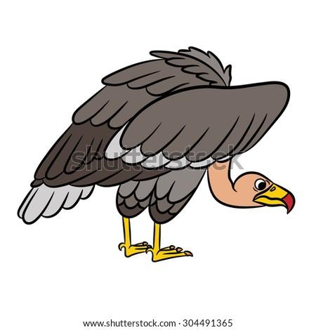 Cartoon vulture. Vector illustration - stock vector