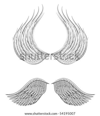 cartoon wings design - stock vector